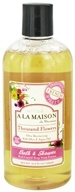 A La Maison - Traditional French Milled Bath & Shower Liquid Soap Thousand Flowers - 16.9 oz.
