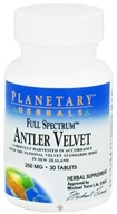 Planetary Herbals - Antler Velvet Full Spectrum 250 mg. - 30 Tablets
