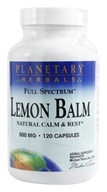 Image of Planetary Herbals - Lemon Balm Full Spectrum 500 mg. - 120 Capsules