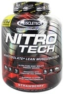 Muscletech Products - Nitro Tech Performance Series Whey Isolate Strawberry - 4 lbs. - $58.99