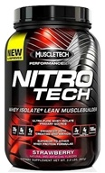 Image of Muscletech Products - Nitro Tech Performance Series Whey Isolate Strawberry - 2 lbs.