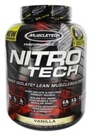 Muscletech Products - Nitro Tech Performance Series Whey Isolate Vanilla - 4 lbs. (631656703290)