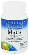 Planetary Herbals - Maca Extract Full Spectrum 325 mg. - 60 Tablets by Planetary Herbals