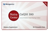 Metagenics - Nutra Gems CoQ10 300 mg. - 30 Chewable Gels (755571930637)