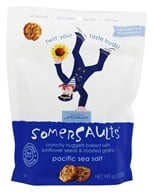 Somersaults - Crunchy Nuggets Sunflower Seed Snacks Pacific Sea Salt - 6 oz. by Somersaults