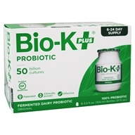 Bio-K Plus - Probiotic Dairy Culture 50 Billion CFUs Original Flavor - 6 x 3.5 oz., from category: Nutritional Supplements