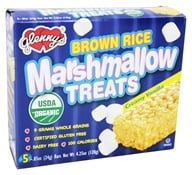 Glenny's - Brown Rice Marshmallow Treats Creamy Vanilla - 5 Bars