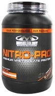 Muscleology - Nitro Pro 100% Premium Whey Isolate Protein Chocolate Sweetened with Stevia - 3 lbs. by Muscleology