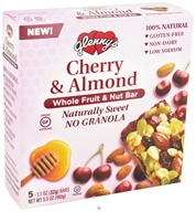 Glenny's - Whole Fruit & Nut Bar Cherry & Almond - 5 Bars - $4.99