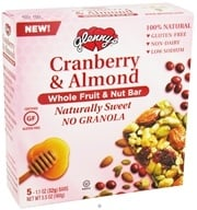 Glenny's - Whole Fruit & Nut Bar Cranberry & Almond - 5 Bars (027393007423)