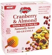 Glenny's - Whole Fruit & Nut Bar Cranberry & Almond - 5 Bars - $5.09