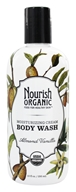 Image of Nourish - Organic Body Wash Almond Vanilla - 10 oz.
