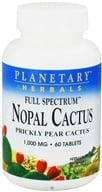 Planetary Herbals - Nopal Cactus Full Spectrum 1000 mg. - 60 Tablets - $8.37