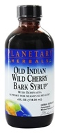 Image of Planetary Herbals - Old Indian Wild Cherry Bark Syrup With Echinacea - 4 oz.
