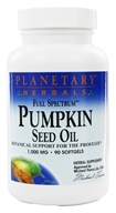 Planetary Herbals - Pumpkin Seed Oil Full Spectrum 1000 mg. - 90 Softgels - $11.29