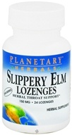 Planetary Herbals - Slippery Elm Lozenges Unflavored 150 mg. - 24 Lozenges, from category: Herbs