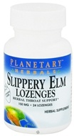 Planetary Herbals - Slippery Elm Lozenges Strawberry Flavor 150 mg. - 24 Lozenges