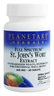 Planetary Herbals - St. John's Wort Extract Full Spectrum 600 mg. - 60 Tablets - $10.22