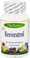 Paradise Herbs - Resveratrol 20:1 Concentrated Potency - 60 Vegetarian Capsules, from category: Nutritional Supplements