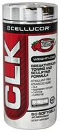 Image of Cellucor - CLK Weight Loss Breakthrough Toning and Sculpting Formula Raspberry - 60 Softgels