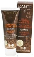 Sante - Homme II 2 in 1 Facial Moisture Fluid Organic Caffeine & Acai - 1.7 oz. CLEARANCE PRICED