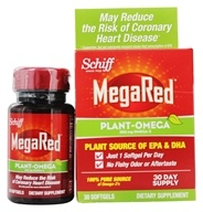 Image of Schiff - Mega Red Plant-Omega 300 mg. - 30 Softgels