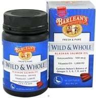 Image of Barlean's - Fresh & Pure Wild & Whole Alaskan Salmon Oil 800 mg. - 90 Softgels