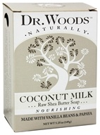 Dr. Woods - 100% Natural Raw Shea Butter Bar Soap Coconut Milk - 5.25 oz. (689191560335)