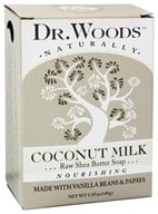 Dr. Woods - 100% Natural Raw Shea Butter Bar Soap Coconut Milk - 5.25 oz. by Dr. Woods