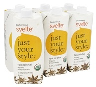 Cal Naturale - Svelte Organic Protein Drink 6 x 15.9 oz RTD Spiced Chai - 6 Pack, from category: Sports Nutrition
