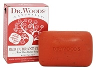 Image of Dr. Woods - 100% Natural Raw Shea Butter Bar Soap Red Currant Clove - 5.25 oz.