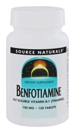 Source Naturals - Benfotiamine 150 mg. - 120 Tablets (021078019077)