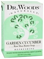Dr. Woods - 100% Natural Raw Shea Butter Bar Soap Garden Cucumber - 5.25 oz.