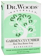 Image of Dr. Woods - 100% Natural Raw Shea Butter Bar Soap Garden Cucumber - 5.25 oz.