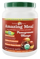Amazing Grass - Amazing Meal Powder 30 Servings Pomegranate Mango Infusion - 31 oz. by Amazing Grass