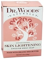 Dr. Woods - 100% Natural Skin Lightening Bar Soap English Rose - 5.25 oz.