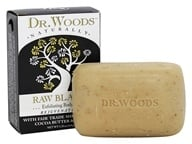 Image of Dr. Woods - 100% Natural Shea Butter Bar Soap Raw Black - 5.25 oz.
