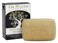 Dr. Woods - 100% Natural Shea Butter Bar Soap Raw Black - 5.25 oz. (689191560137)