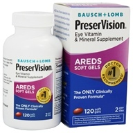 Bausch & Lomb - PreserVision AREDS Formula - 120 Softgels, from category: Nutritional Supplements