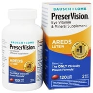 Bausch & Lomb - PreserVision AREDS Formula with Lutein - 120 Softgels (324208632116)