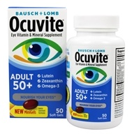 Bausch & Lomb - Ocuvite Adult 50+ with Lutein, Zeaxanthin and Omega-3 - 50 Softgels by Bausch & Lomb