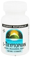 Image of Source Naturals - L-Tryptophan Trial Size 500 mg. - 8 Tablets