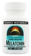 Source Naturals - Melatonin Timed Release 3 mg. - 120 Tablets - $10.43