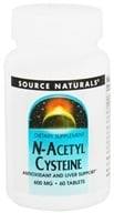 Source Naturals - N-Acetyl Cysteine 600 mg. - 60 Tablets