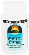 Source Naturals - N-Acetyl Cysteine 600 mg. - 60 Tablets - $8.25