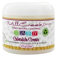 Mill Creek Botanicals - Baby Calendula Cream with Witch Hazel Extra Gentle Fragrance Free - 4 oz.