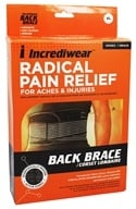 Incredibrace - Low Back Support Brace X-Large 34-37 by Incredibrace