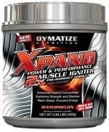 Dymatize Nutrition - Xpand 2x Muscle Igniter Pre-Workout Formula Bonus Size 10% More Watermelon - 0.88 lbs. CLEARANCE PRICED - $17.02