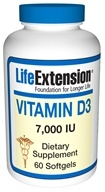 Life Extension - Vitamin D3 7000 IU - 60 Softgels (737870171867)