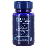 Life Extension - Super Ubiquinol CoQ10 with Mitochondrial Support 50 mg. - 100 Softgels, from category: Nutritional Supplements